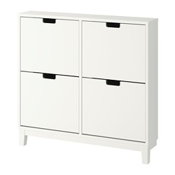 STÄLL - Shoe cabinet with 4 compartments, white