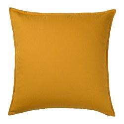 GURLI - GURLI, sarung bantal kursi, emas-kuning, 65x65 cm