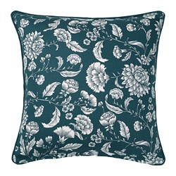 IDALINNEA - IDALINNEA, cushion cover, blue/white/floral patterned, 50x50 cm