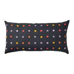 SOMMARBINKA - Cushion, black/multicolour