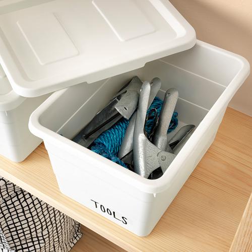 SOCKERBIT - kotak dengan penutup, putih, 19x26x15 cm   IKEA Indonesia - PE625946_S4