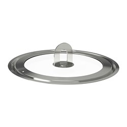 STABIL - Lid, stainless steel/clear glass