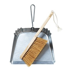 BORSTAD - Dust pan and brush