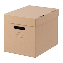 PAPPIS - Box with lid, brown