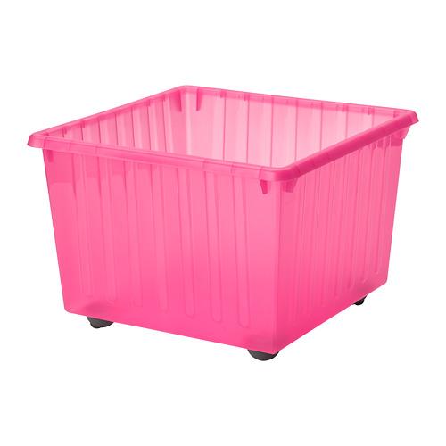 VESSLA - storage crate with castors, light pink, 39x39 cm   IKEA Indonesia - PE727881_S4