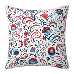KRATTEN - Cushion cover, white/multicolour