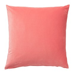SANELA - Cushion cover, light brown-red