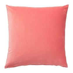 SANELA - Sarung bantal kursi, cokelat muda-merah