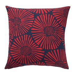 STJÄRNTULPAN - Cushion cover, dark blue/red