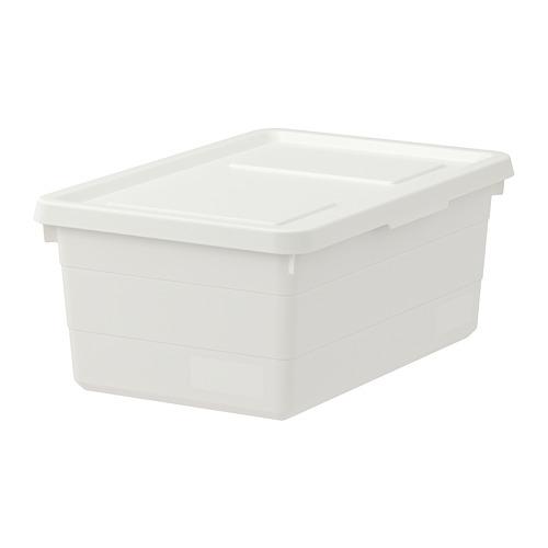 SOCKERBIT - kotak dengan penutup, putih, 38x25x15 cm | IKEA Indonesia - PE728050_S4