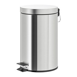 STRAPATS - Pedal bin, stainless steel