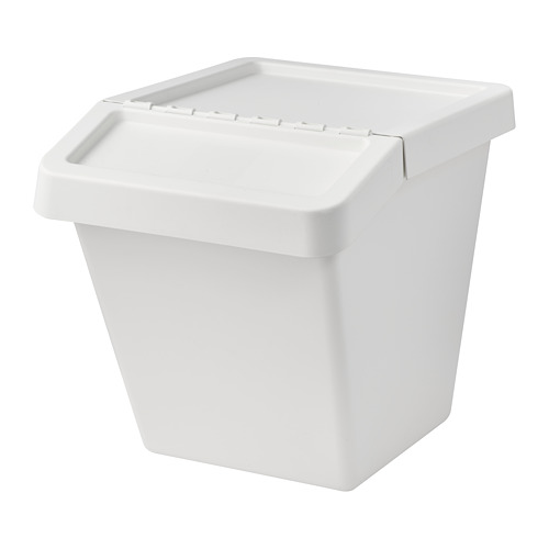 SORTERA waste sorting bin with lid
