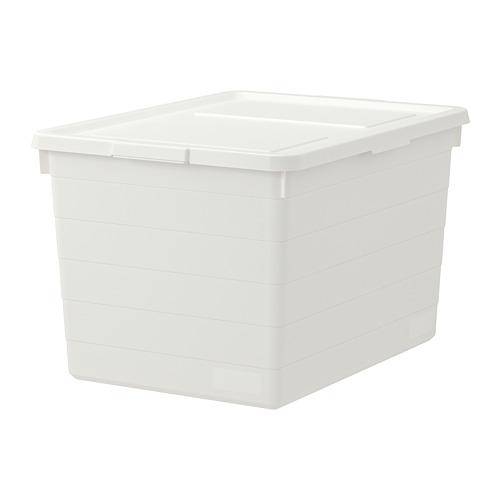 SOCKERBIT - kotak dengan penutup, putih, 38x51x30 cm | IKEA Indonesia - PE728058_S4