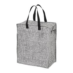 KNALLA - Bag, black/white