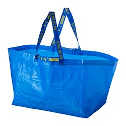 FRAKTA - Carrier bag, large, blue