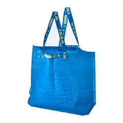 FRAKTA - FRAKTA, kantong belanja, medium, biru, 45x18x45 cm/36 l