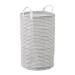 KLUNKA - Kantong cucian, putih/hitam, 60 l