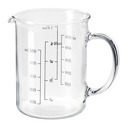 VARDAGEN - Measuring jug, glass