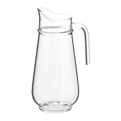 TILLBRINGARE - Jug, clear glass