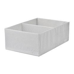 STUK - Kotak dengan kompartemen, putih/abu-abu