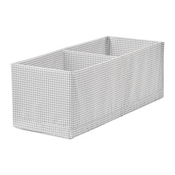 STUK - Box with compartments, white/grey