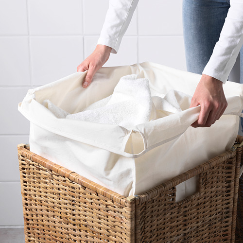 BRANÄS - keranjang laundry dg alas kain, rotan, 80 l | IKEA Indonesia - PE558467_S4