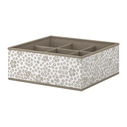 STORSTABBE - Box with compartments, beige