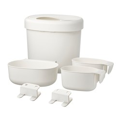 ÖNSKLIG - Stor baskets changing tbl set of 4, white