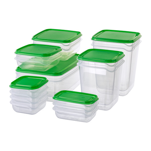 PRUTA food container, set of 17