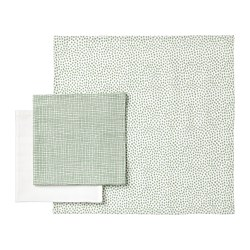 KLÄMMIG - Washcloth, green/white