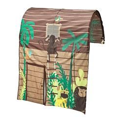 KURA - Tenda tempat tidur dengan tirai, cokelat