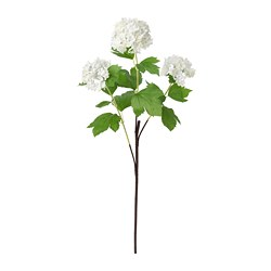SMYCKA - Artificial flower, snowball/white