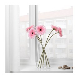 SMYCKA - Artificial flower, Gerbera/pink