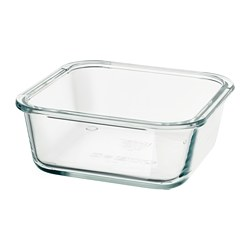 IKEA 365+ - Food container, square/glass