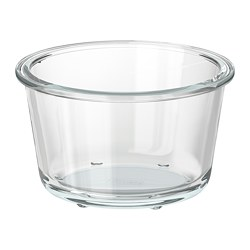 IKEA 365+ - Food container, round/glass