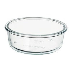 IKEA 365+ - IKEA 365+, food container, round/glass, 400 ml