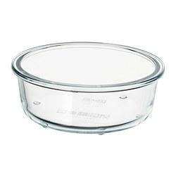 IKEA 365+ - Tempat makanan, bulat/kaca