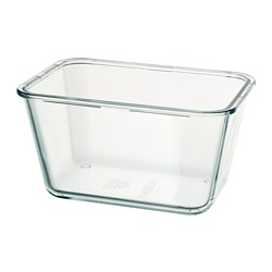 IKEA 365+ - IKEA 365+, food container, rectangular/glass, 1.8 l