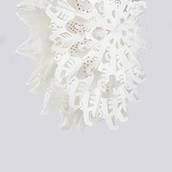 STRÅLA - Lamp shade, snowflakes