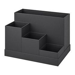 TJENA - Pengatur meja kerja, hitam
