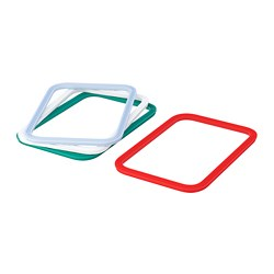 IKEA 365+ - Gasket, rectangular/mixed colours