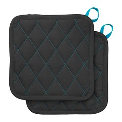 LACKTICKA - Pot holder, black