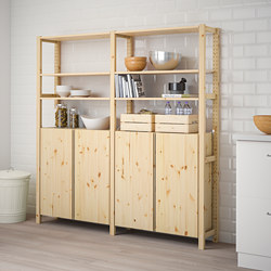 IVAR - 2 bagian/rak/kabinet, kayu pinus