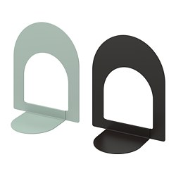 BOTTNA - Book-end, light grey-green/anthracite