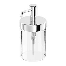 VOXNAN - Soap dispenser, chrome effect
