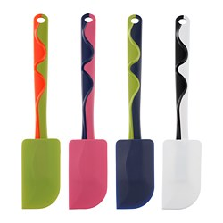 GUBBRÖRA - Rubber spatula, green/pink/blue/white