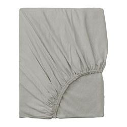 VÅRVIAL - Fitted sheet, light grey