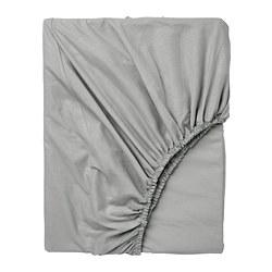 DVALA - Fitted sheet, light grey