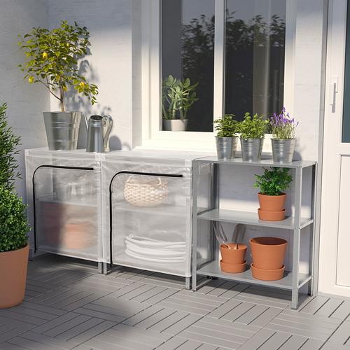 HYLLIS - unit rak dengan sarung, transparan, 180x27x74 cm   IKEA Indonesia - PE712589_S4