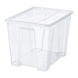SAMLA - Box with lid, transparent